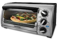 Black & Decker TRO480BS Toast-R-Oven 4-Slice Toaster Oven